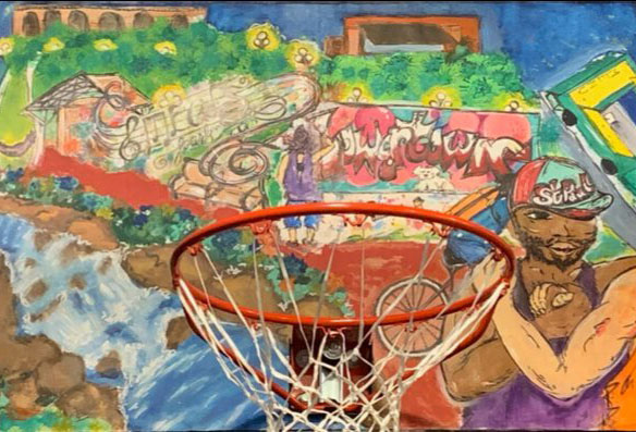Backboard by Leyna Nicolina