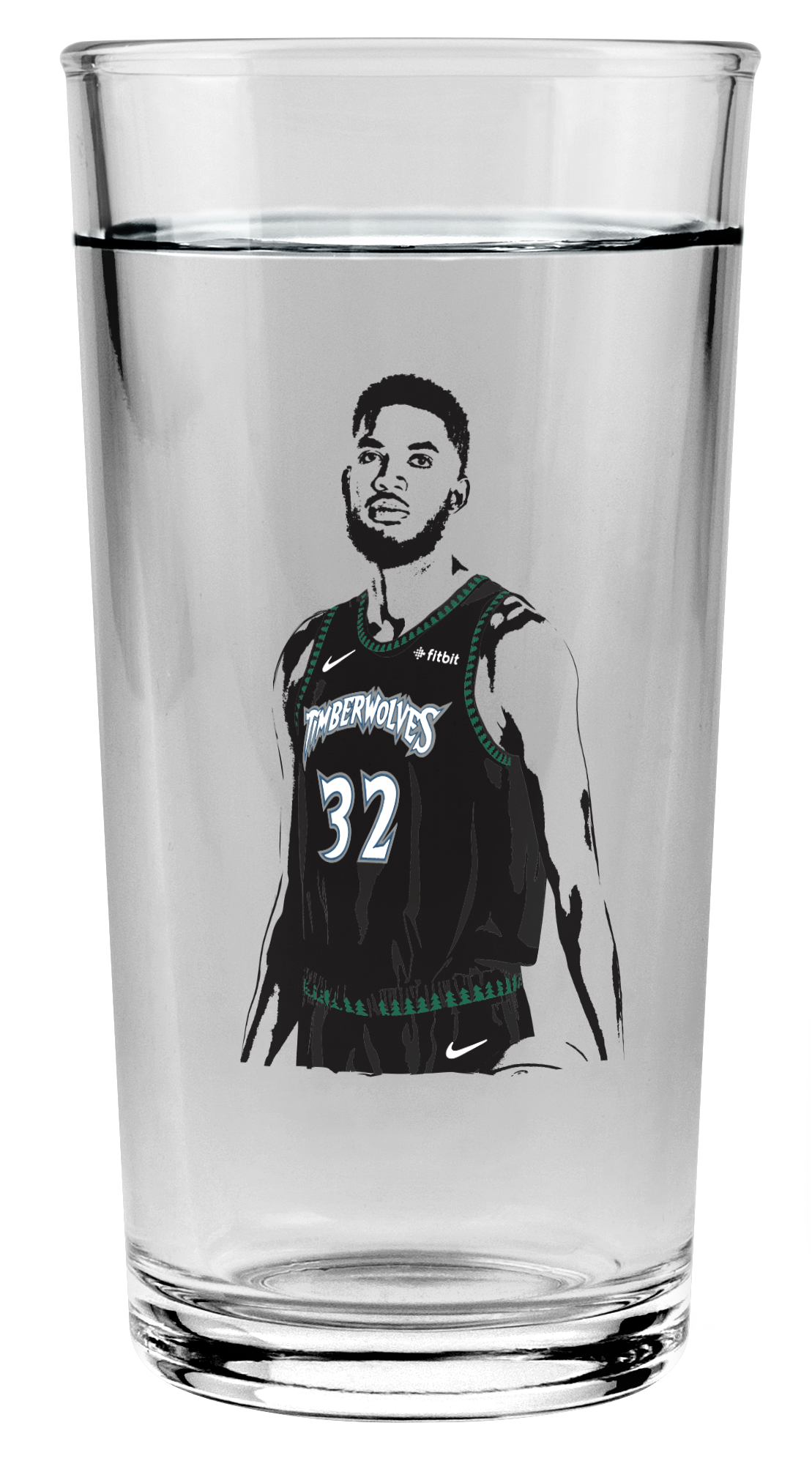 Karl-Anthony Towns Pint Glass