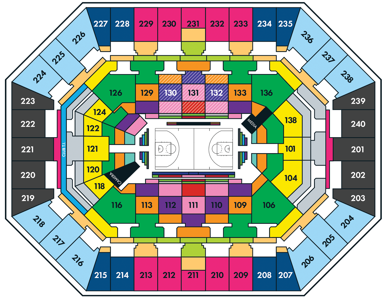 Timberwolves 2018-19 Half Season Pricing Map