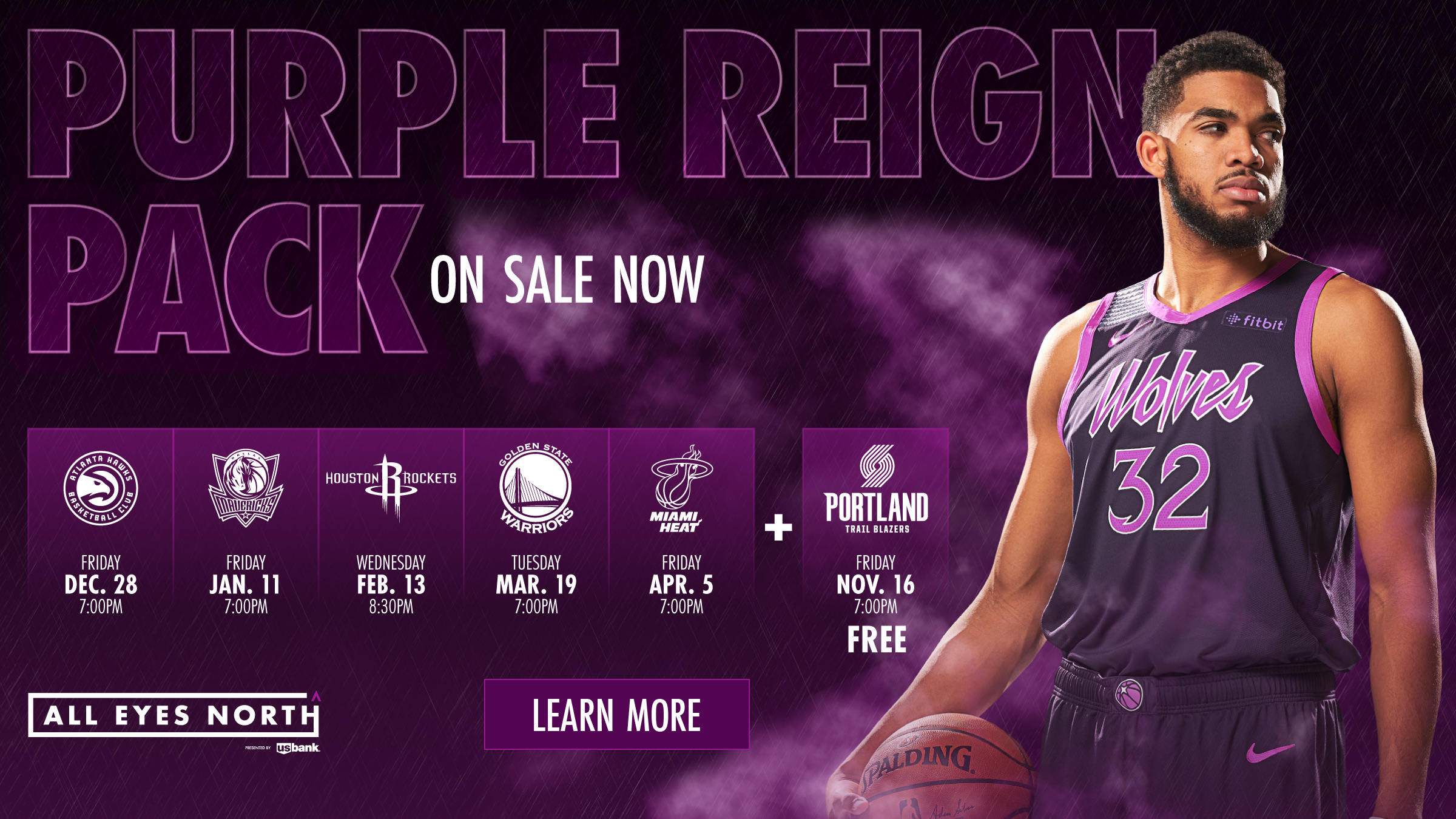 Timberwolves Purple Reign Pack