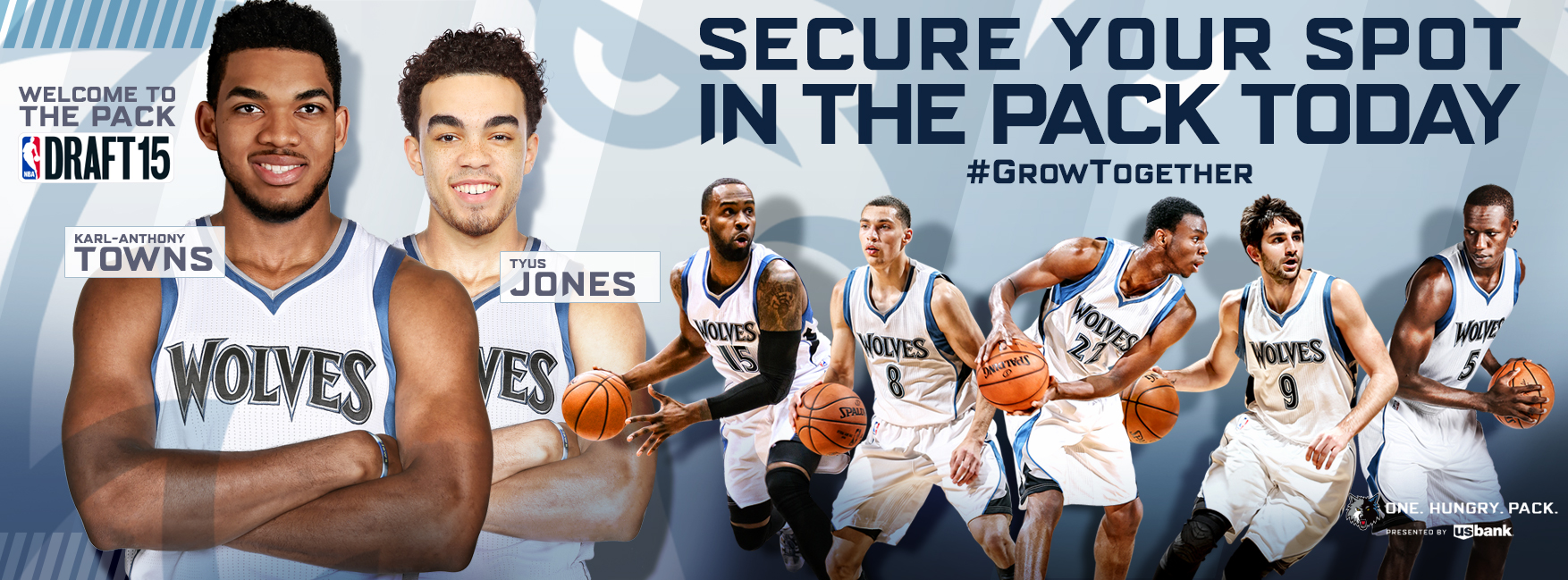 d11aec2ab Minnesota Timberwolves Welcome Karl-Anthony Towns and Tyus Jones Towns To  The Pack!