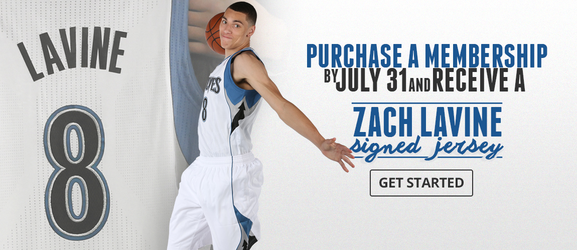 Purchase a Membership for a Zach LaVine Signed Jersey