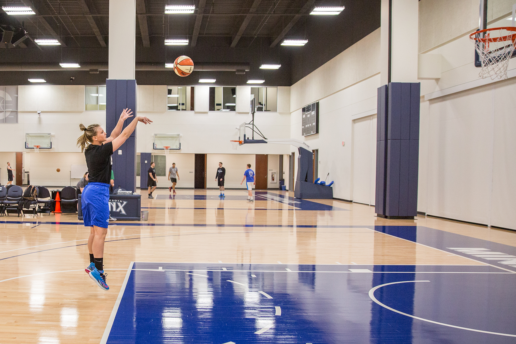 Timberwolves and Lynx Staff Open Gym on The Courts at Mayo Clinic