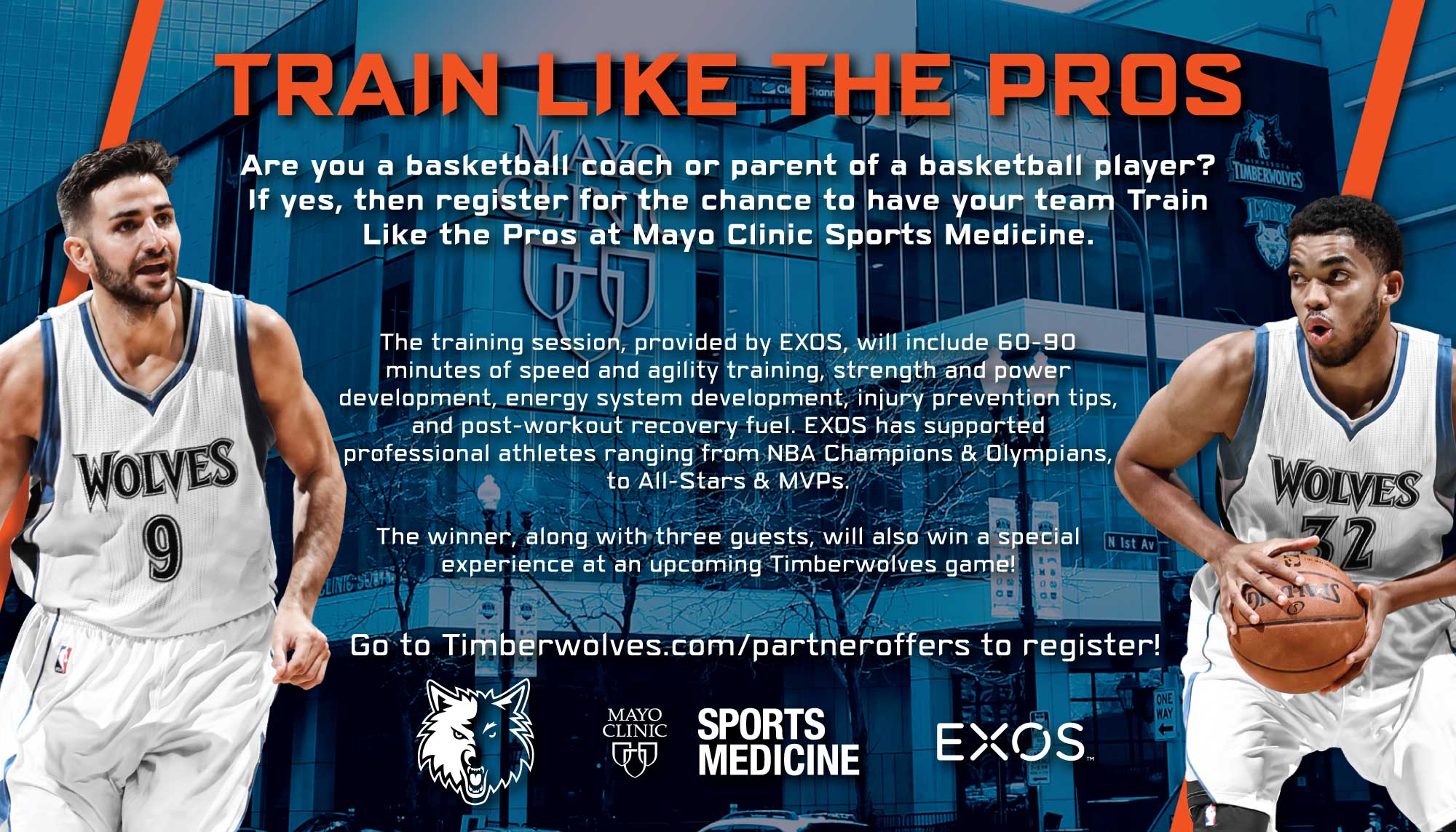 "Train Like the Pros"" Promotion Presented by Mayo Clinic Sports"