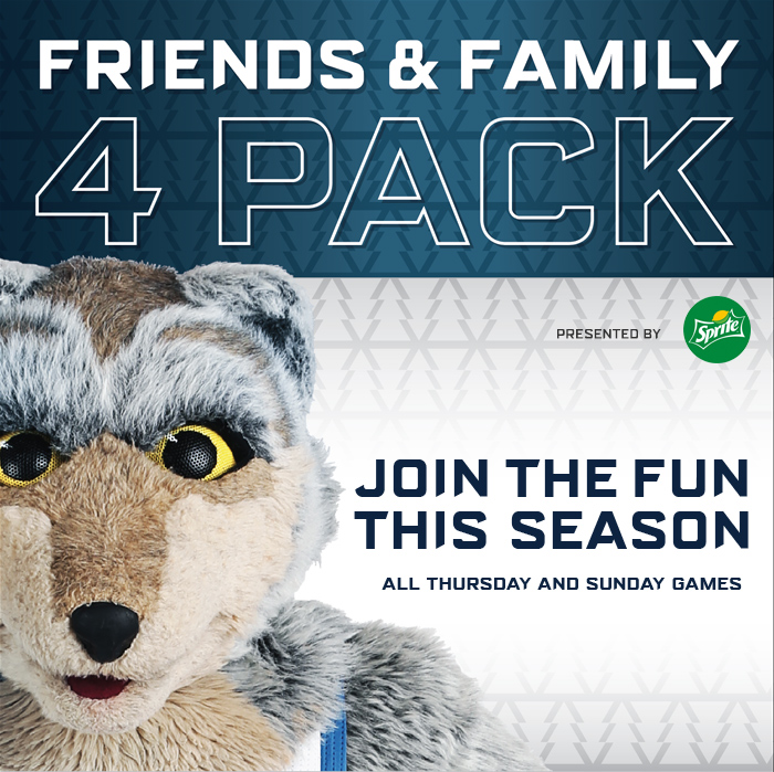 Wolves Friends and Family 4 Pack