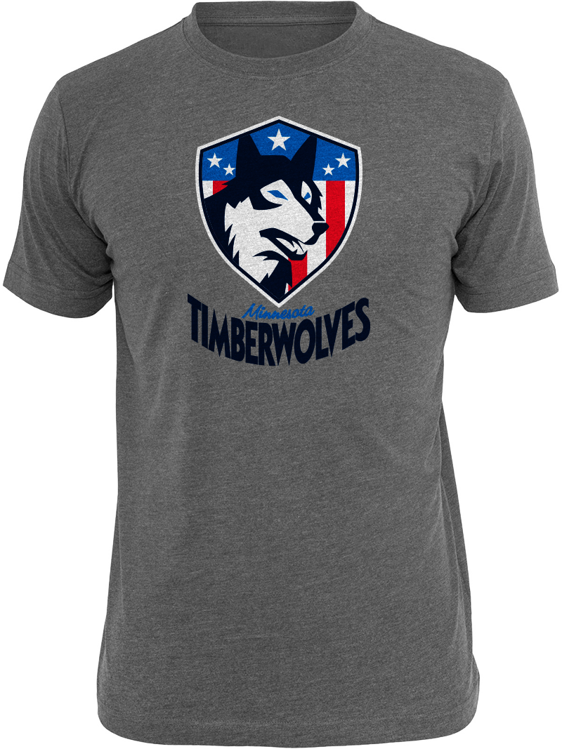 Timberwolves T-Shirt Tuesday Military Night