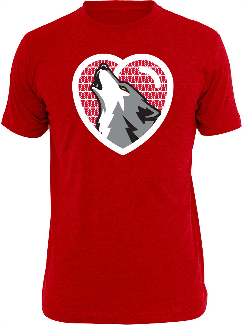 Timberwolves T Shirt Tuesday Valentines Day