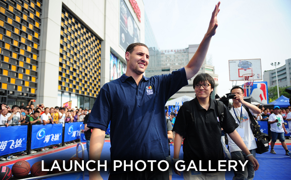 Klay Thompson is in China touring with NBA Nation.