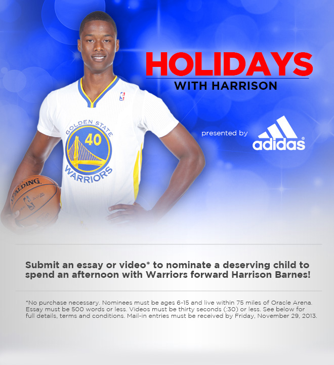 Holidays with Harrison, presented by adidas