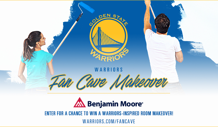 Win a Warriors Fan Cave Makeover