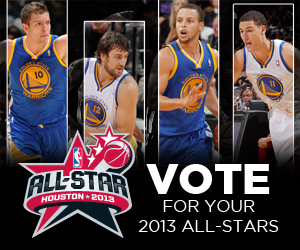 Bogut, Curry, Lee & Thompson Represent Warriors on 2013 NBA All-Star Ballot. Vote Now!