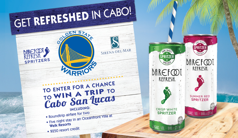 Enter to win a trip to Cabo San Lucas.