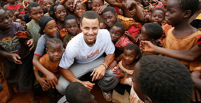 Stephen Curry Continues Three For Three Challenge Benefiting Nothing But Nets For 2013-14 Season