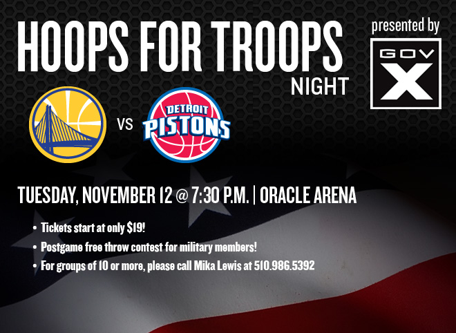 Hoops for Troops Night - Tuesday, November 12