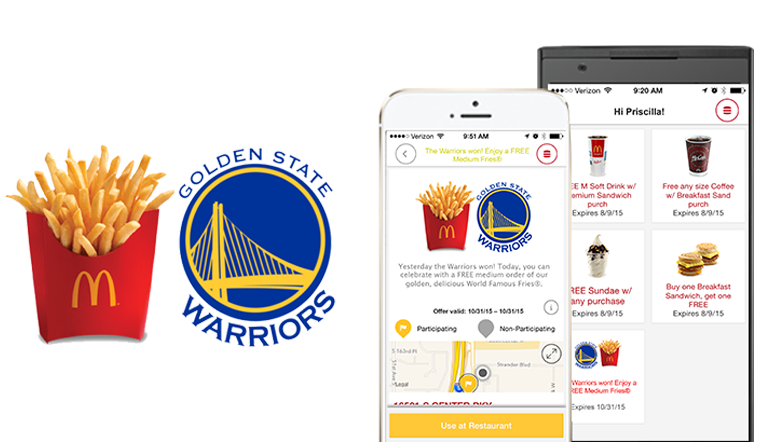 Get Free McDonald's Fries the Day After Every Warriors Road Win