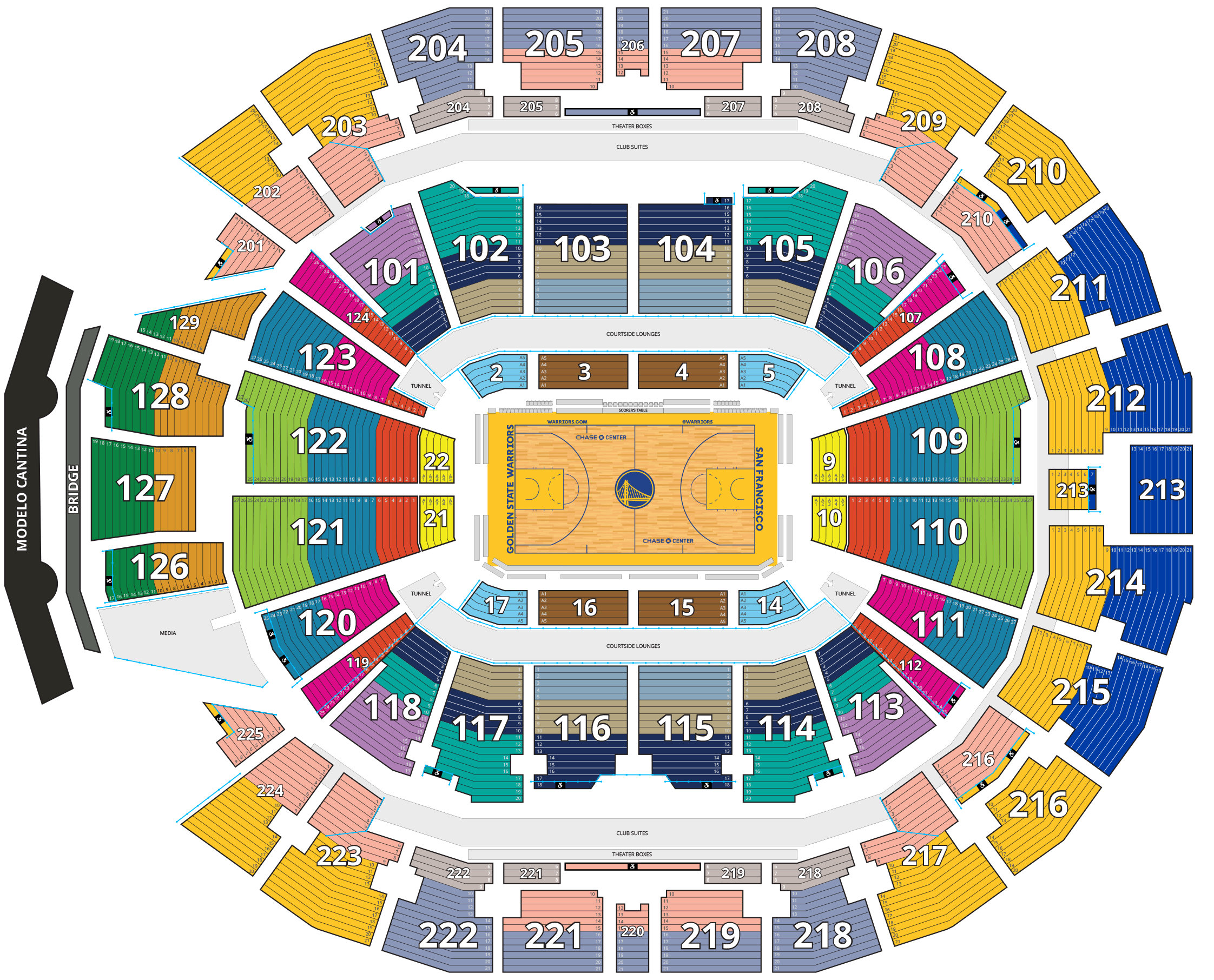 Chase Center Seating Map