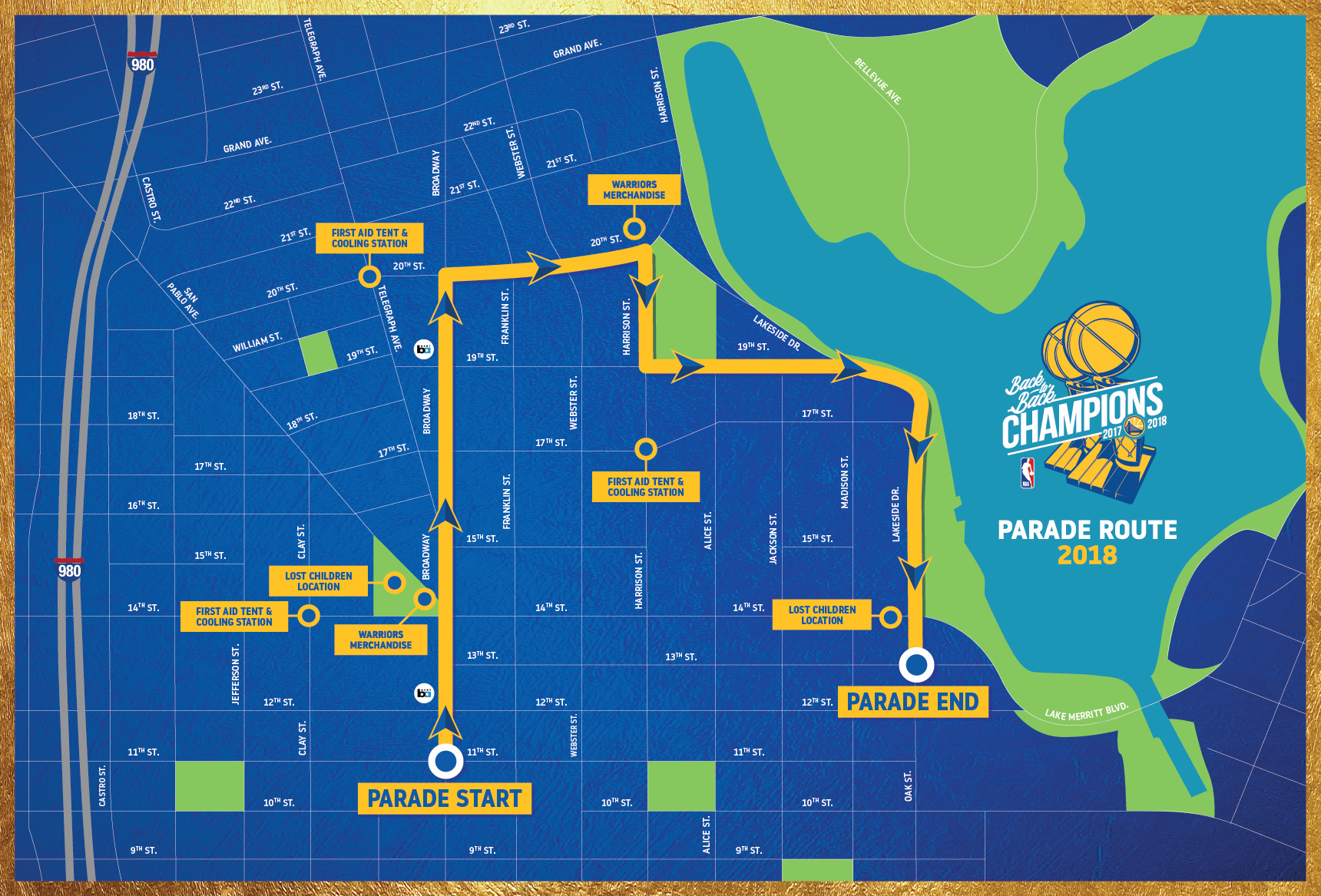 official warriors championship parade information warriors