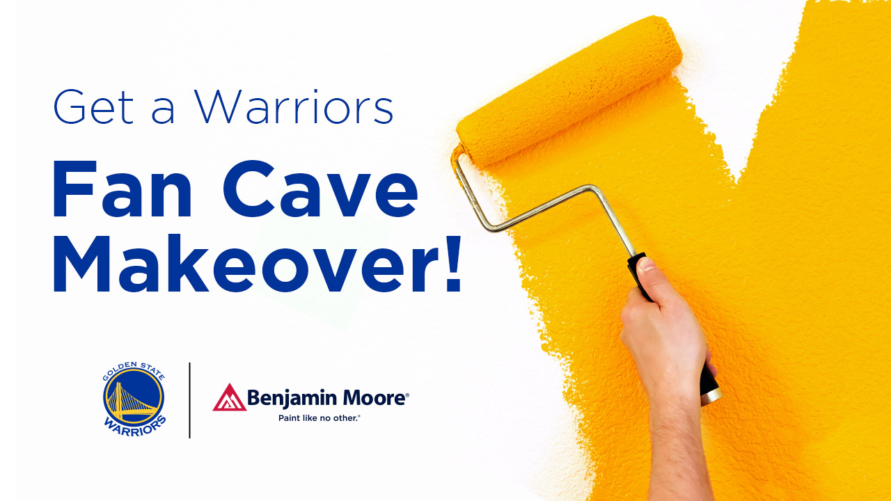 Warriors Fan Cave Makeover | Golden State Warriors