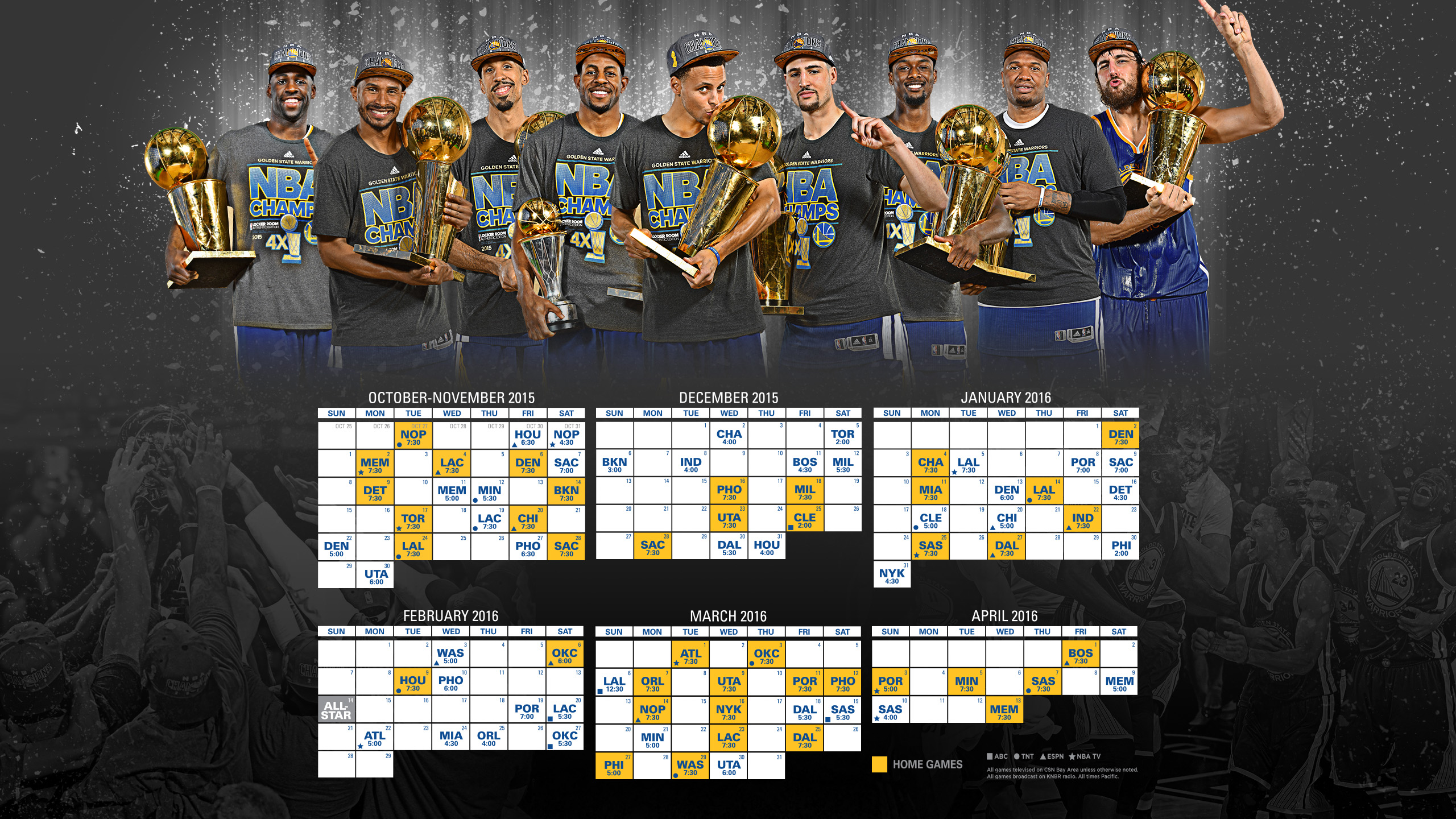 nba champion golden state warriors announce schedule for upcoming