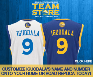 Customize Iguodala's name and number onto your home or road replica jersey today!