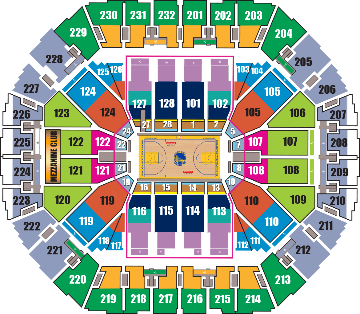 Warriors New Stadium Status: Oracle Arena Seating Chart Virtual