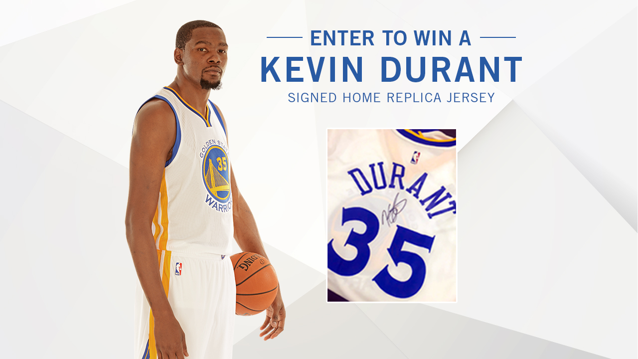super popular 7a530 0c77d Enter to Win a Kevin Durant Signed Jersey | Golden State ...