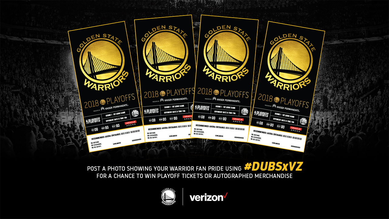 Warriors - Verizon Playoff Tickets Sweepstakes | Golden