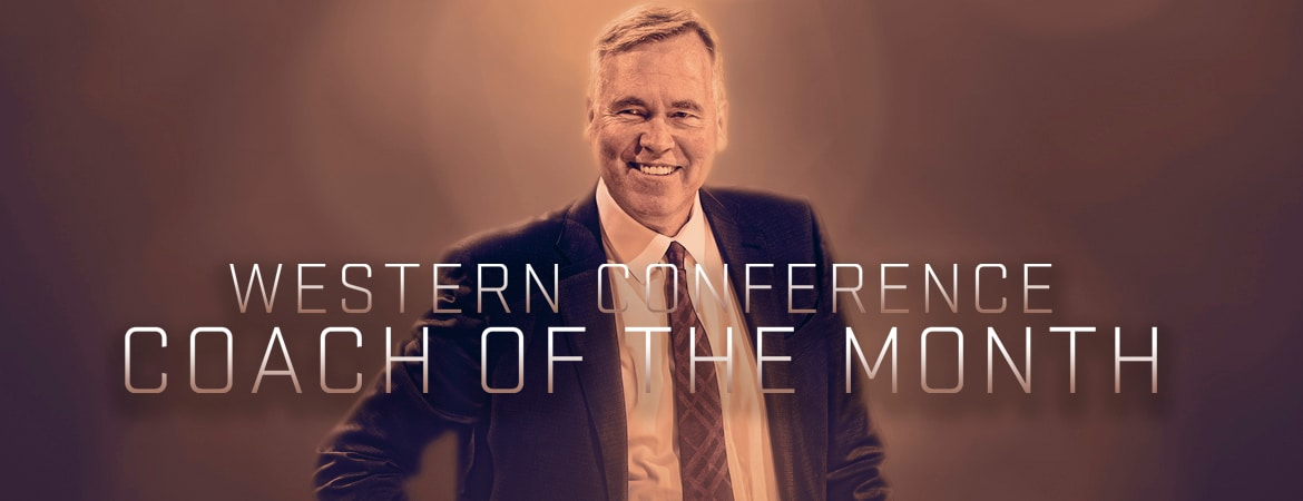 Rockets Mike DAntoni Named Western Conference Coach of the Month