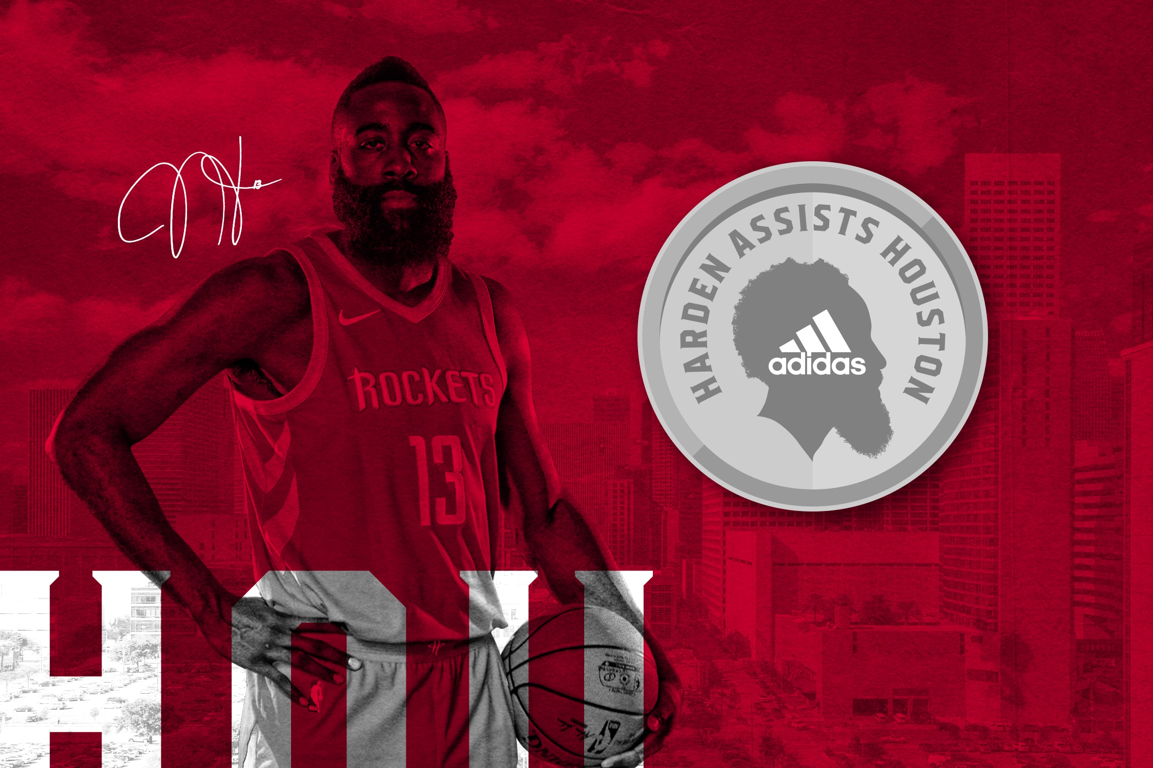 Harden and adidas Assist Houston
