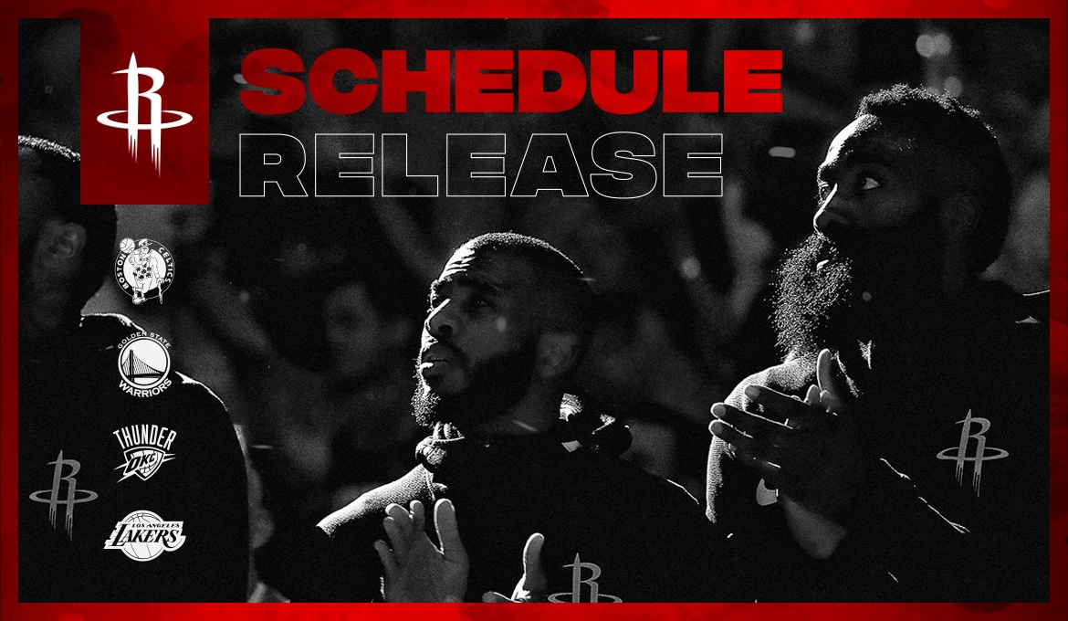 image regarding Houston Astros Printable Schedule named Rockets Announce Routine for 2018-19 Houston Rockets