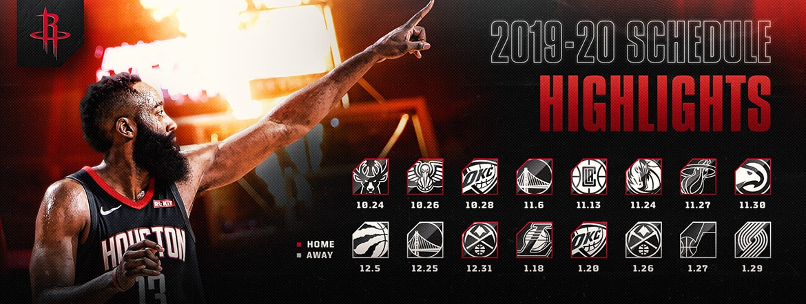 photograph about Minnesota Twins Printable Schedule identify Rockets Announce 2019-20 Regular monthly Period Agenda Houston