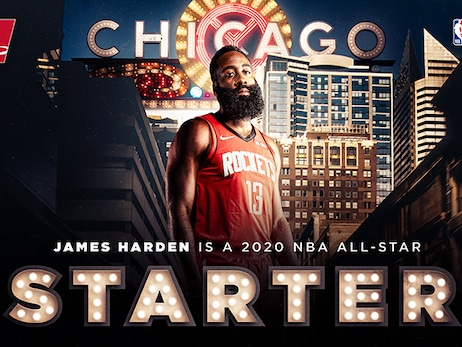 James Harden Voted as Starter for 2020 NBA All-Star Game
