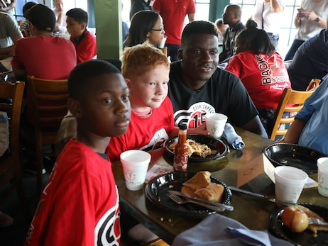 Clint Capela's CC15 Foundation Hosts Back 2 School Program for Big Brothers Big Sisters Houston