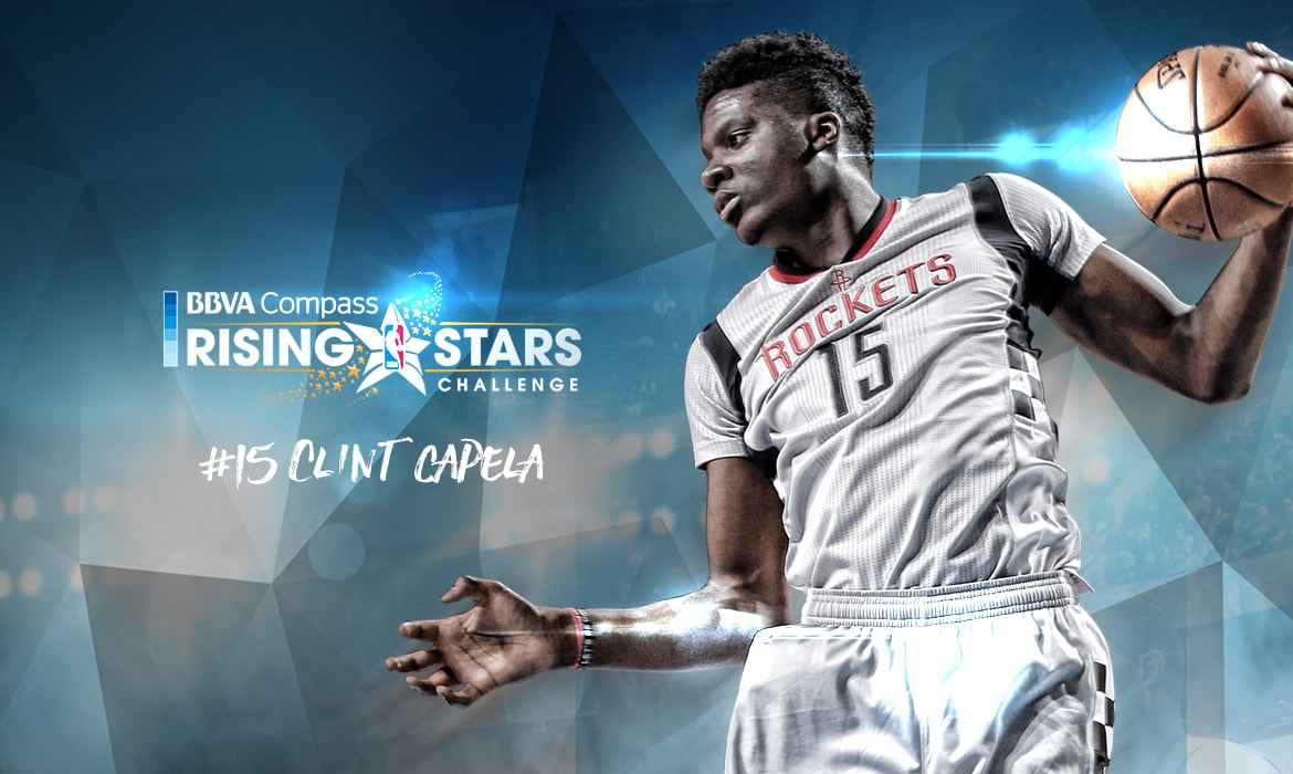 96ea59341c08 Clint Capela Selected to Compete in BBVA Compass Rising Stars Challenge