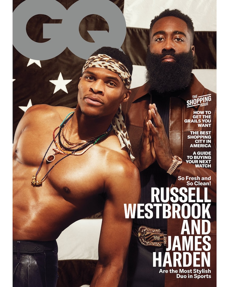 Westbrook & Harden Land March GQ Cover