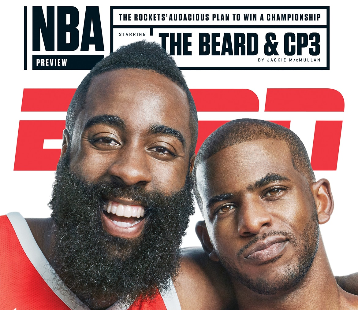 New Cover S Alert The 2017 18 Nba Rookies: ESPN The Magazine Article Featuring Harden And CP3