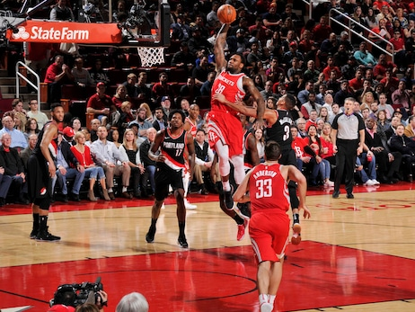 Photo Gallery: Rockets vs. Blazers 1-10-18