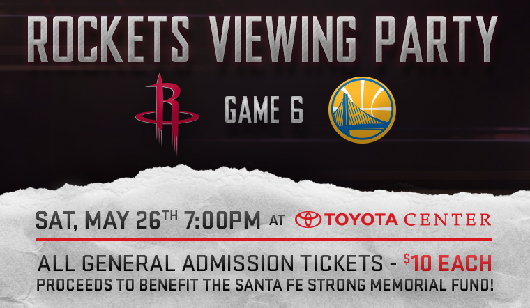 JOIN US AT TOYOTA CENTER ON SATURDAY