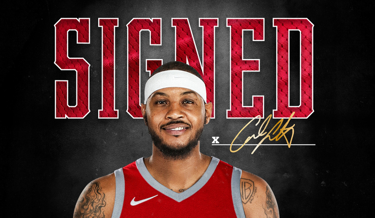 Rockets Sign Carmelo Anthony