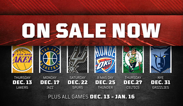 Tickets for Upcoming Games On Sale NOW
