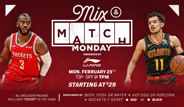 Purchase Mix & Match Monday - All Inclusive Package Starting at $29 Per Person