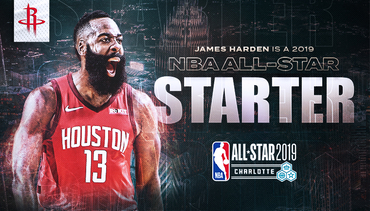 Harden Named a Starter for All-Star 2019