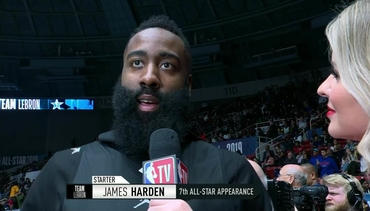 Harden at NBA All-Star Practice