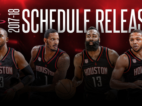 Rockets Announce Schedule for 2017-18