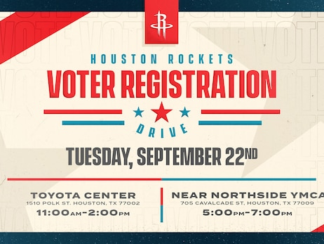 Houston Rockets To Celebrate National Voter Registration Day with Voter Registration Drive