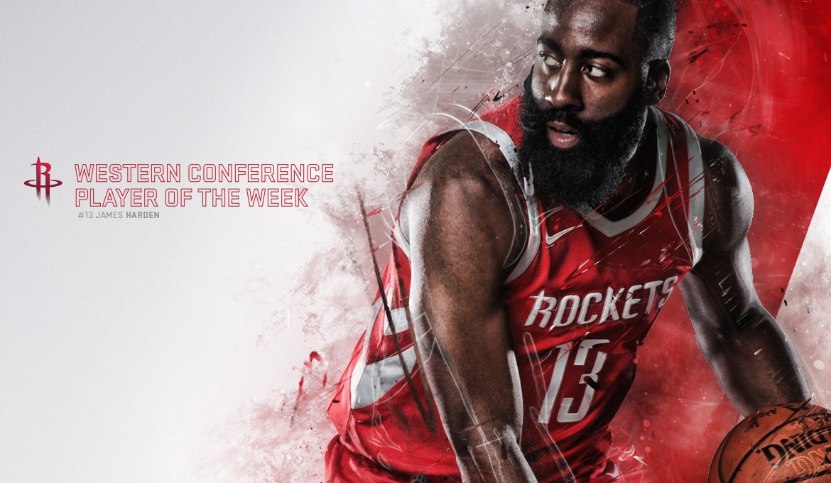 5ada96800f20 Harden Named Western Conference Player of the Week