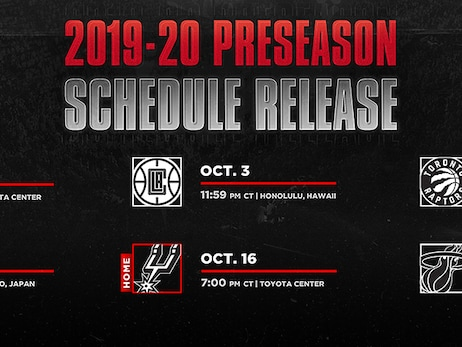 Rockets Announce 2019 Preseason Schedule