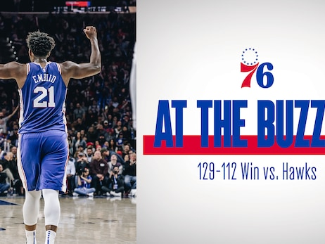 Embiid's Career Night Helps Down Hawks