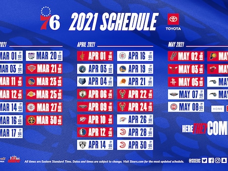 76ers Announce 2020-21 Second Half Schedule Presented by Toyota