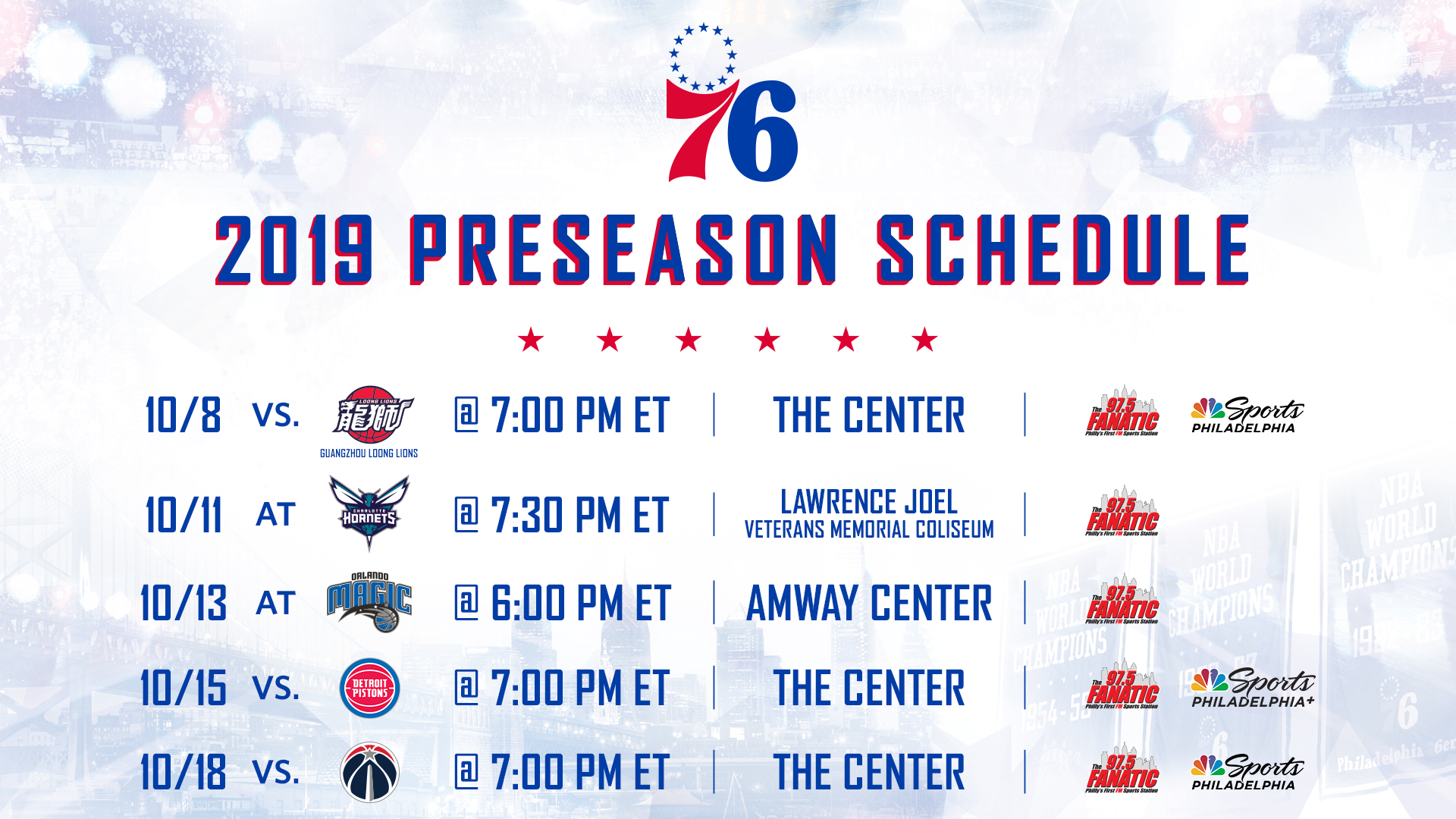 photo regarding 76ers Printable Schedule referred to as Personnel Announces Preseason Program Philadelphia 76ers